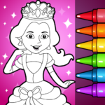 Princess Glitter Coloring Book and Girl Games 5.0